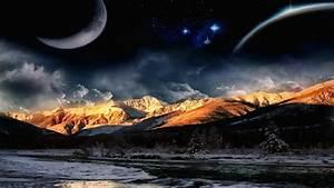 Mountain, Night, Wallpaper, 64, Images