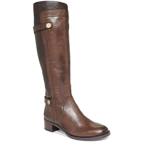 franco sarto cymbols tall boots brown banana bread lyst
