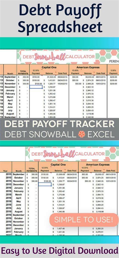 perennial planner instant  debt payoff spreadsheet