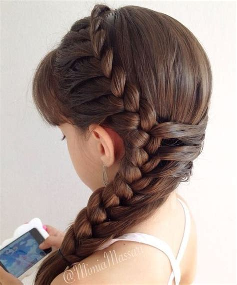 side braided hairstyles 2016 for little girls braids