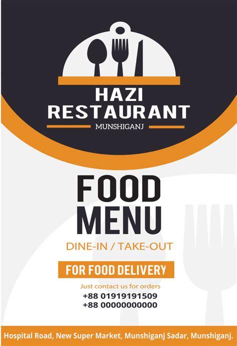 create restaurant menu card creative design