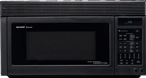 sharp convection 1 1 cu ft the range microwave black r1875t best buy