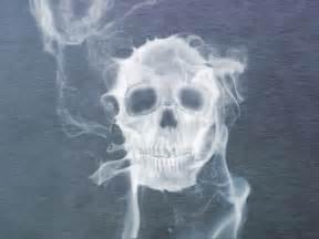 Skull with Smoke Drawings