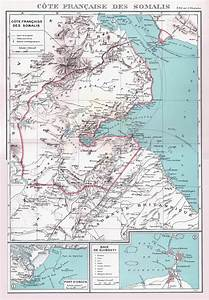 Large detailed old map of Djibouti with relief | Djibouti ...
