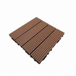 Dalle De Terrasse Composite : dalle de terrasse bois composite modular 30 x 30 cm ep 2 5 cm mccover ~ Melissatoandfro.com Idées de Décoration