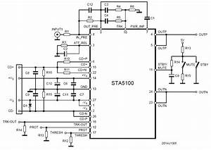 140w power amplifier with sta5100 circuit schematic With mono amplifier circuit diagram schematics