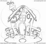 Outline Number Coloring Clip Royalty Illustration Studio Bnp Rf Clipart 2021 sketch template
