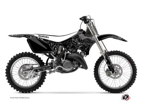 suzuki  rm dirt bike zombies dark graphic kit black