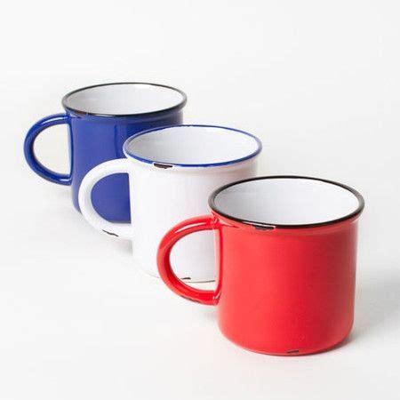 Coffee mug tin cup hand painted black whimsical snowman. Poketo Faux Tin Ceramic Mug ($1-20) | Faux tin, Mugs, Camping cups