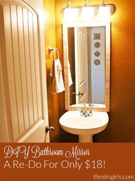 Redo Bathroom Ideas by Best 25 Bathroom Mirror Redo Ideas On Diy