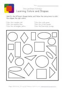 Color Shapes Worksheets for Toddlers