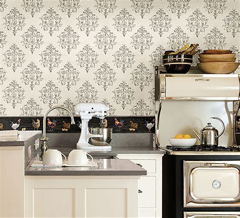 wallpaper backsplash in kitchen the of country chic d 233 cor introducing countryside 6968