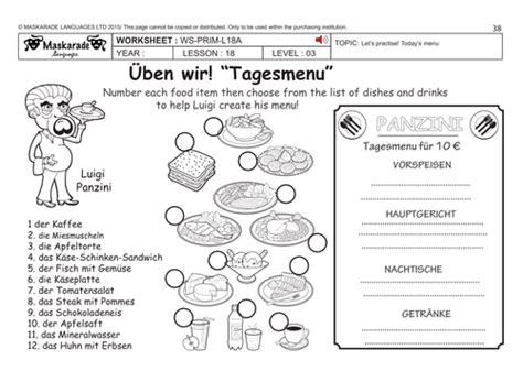 ks3 german restaurant business project by miss a bates