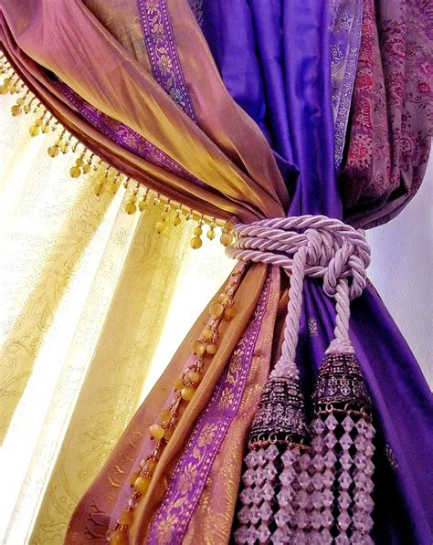 purple  gold curtains curtain ideas