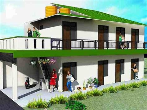 gambar desain rumah kost minimalis modern gambar desain