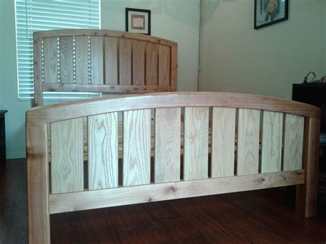 hand crafted custom queen size redwood bed  treasure