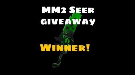 Free red seer mm2 knife! Roblox MM2 Seer Giveaway winner! - YouTube