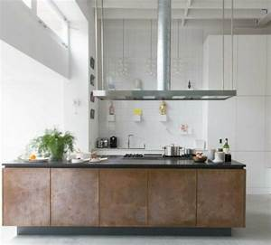 Cuisine industrielle l39elegance brute en 82 photos for Deco cuisine avec chaise cuisine noire