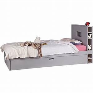Tete De Lit 90 Avec Rangement : lit tiroir de rangement ~ Teatrodelosmanantiales.com Idées de Décoration