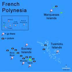 French Polynesia Islands Map