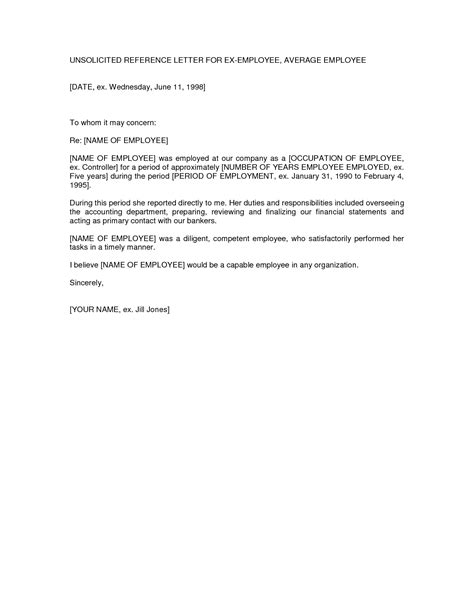 letter of recommendation template for employee letter of employment sle template resume builder