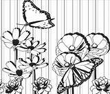 Coloring Spoonflower Floral Fabric sketch template