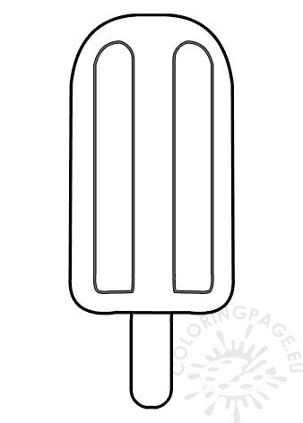 popsicle  wooden stick template coloring page