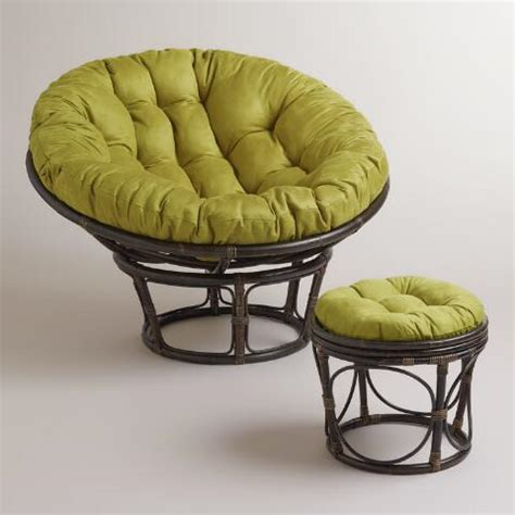 papasan chair with microsuede cushion oasis green micro suede papasan chair cushion world market