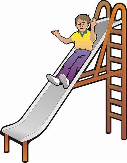 Slide Cartoon Clipart Sliding Playground Slides Cliparts