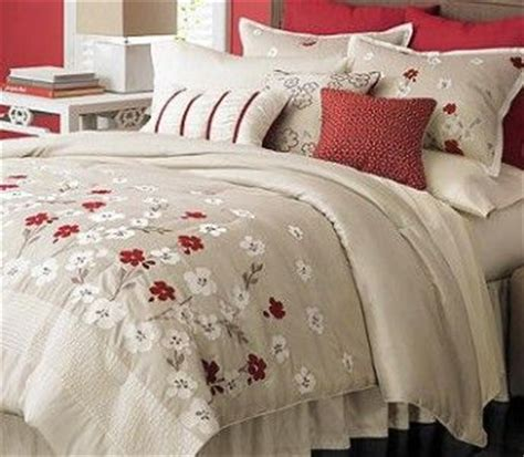 martha stewart cherry lane  piece queen comforter set