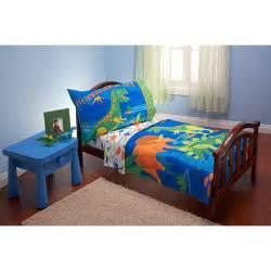 everything for kids dinosaurs 4 piece toddler bedding set