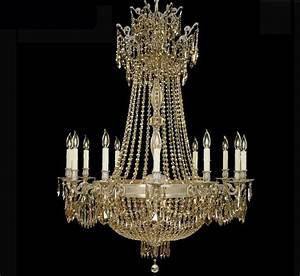 Valencia collection extra large brass crystal chandelier