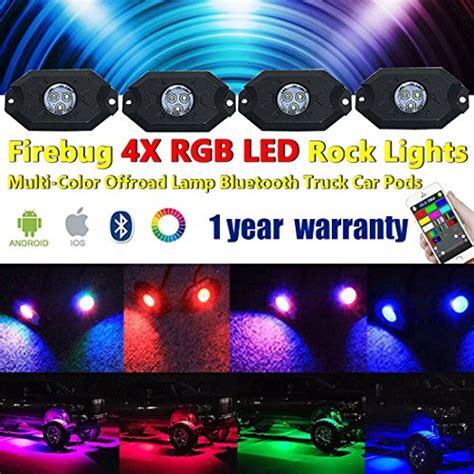 rgb rock lights bluetooth app firebug led rgb rock lights for trucks multi color cell