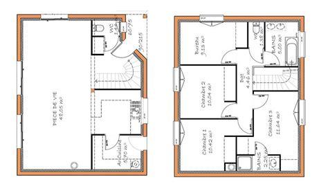plan maison 120m2 4 chambres maison traditionnelle à étage 120 m 4 chambres