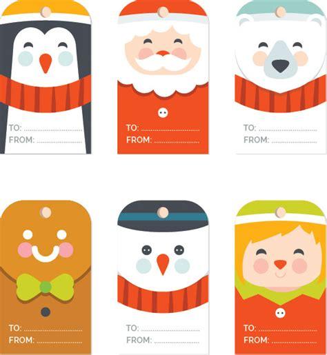 christmas gift tag templates editable printable