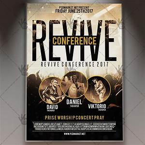 Revive conference church premium flyer psd template psdmarket for Church flyer psd
