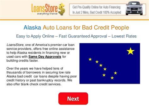 Alaska Auto Loan With Bad Credit