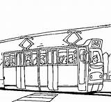 Tram Coloring Pages Passengers Colouring Coloringcrew Printable sketch template