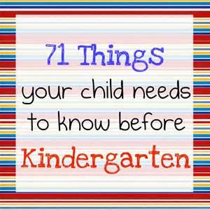 What Children Need to Know Before Kindergarten