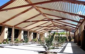 Apply The Patio Roof To Get The Elegant Look For The House ...