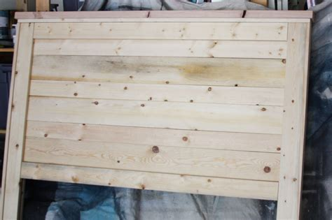 White Headboard Plans by Rustic Headboard Aged Wood Beingbrook
