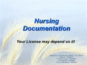 Nursing Documentation Examples
