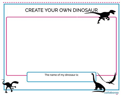 Create Your Own by Create Your Own Dinosaur Worksheet Collaboroo A New