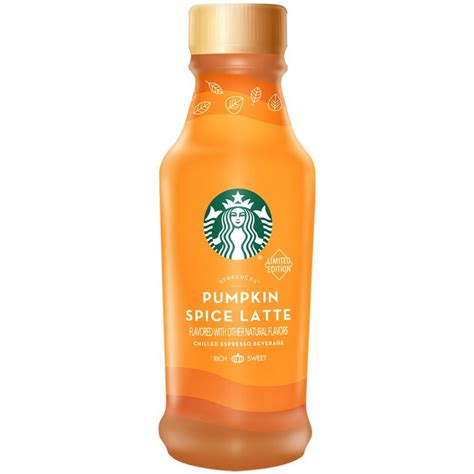Pumpkin Spice Frappuccino Bottle by Starbucks Bottled Pumpkin Spice Lattes Are The Ready To