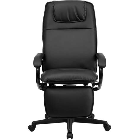 ergonomic home high back black leather executive reclining