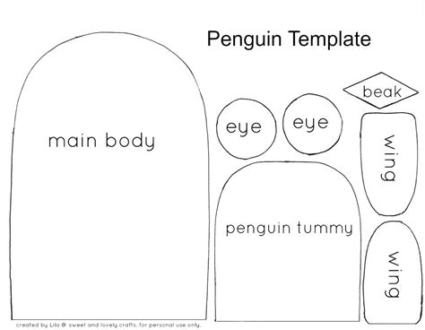 penguin craft template sweet and lovely crafts penguin craft