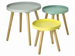 set de 3 bouts de canape sweet vente de table et chaises With tapis de gym avec bout de canapé scandinave metal
