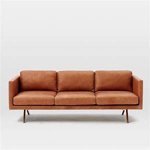 brooklyn leather sofa west elm geyserville pinterest With leather sectional sofas west elm