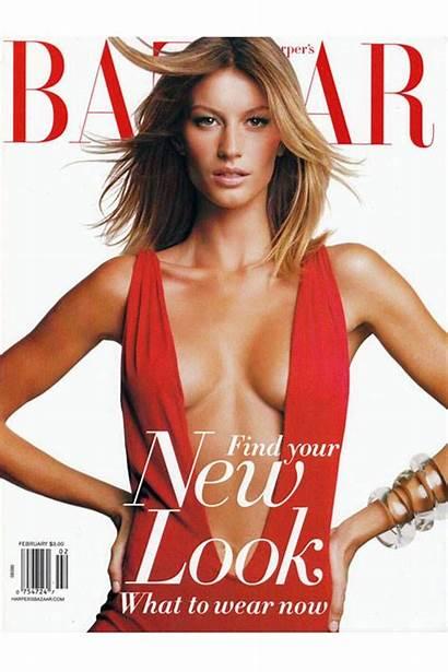 Bazaar Magazine Harpersbazaar Schiffer Claudia Covers Gisele