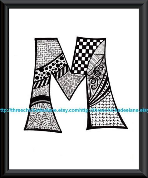 letter  zentangle art print fancycom